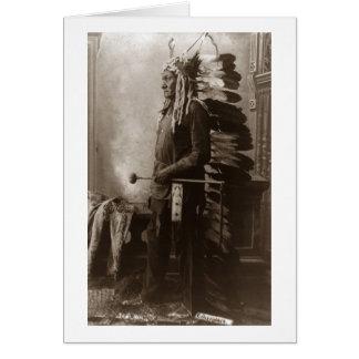 Principal sentada Bull - vintage Tarjeta