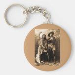 Principal sentada Bull y Buffalo Bill 1895 Llavero Redondo Tipo Pin