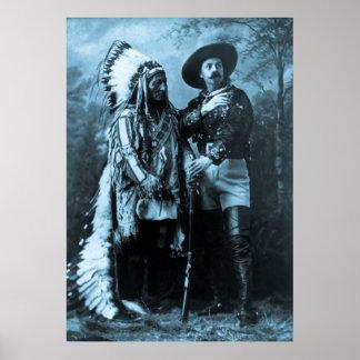 Principal sentada Bull y Buffalo Bill Poster