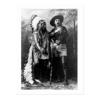 Principal sentada Bull y vintage 1895 de Buffalo Tarjeta Postal