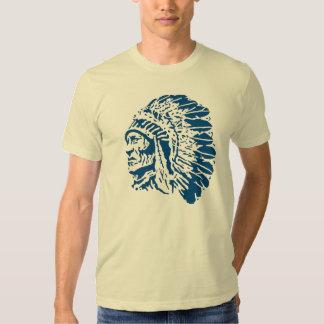 Principal silueta azul del nativo americano camisas