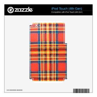 PRINCIPAL TARTÁN ESCOCÉS DE MACINTOSH SKINS PARA iPod TOUCH 4G