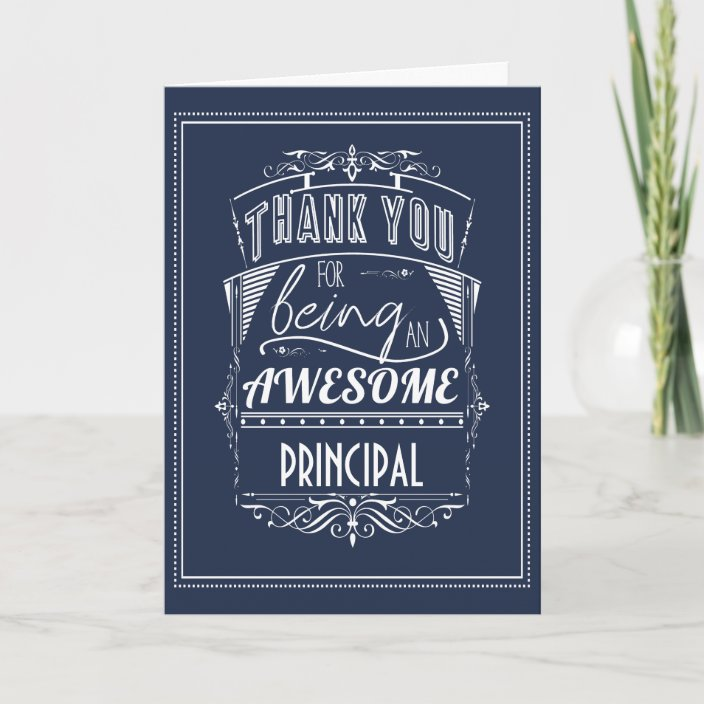 principal teacher thank you appreciation card  zazzle