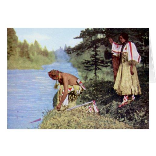 Principal tribu de los Blackfeet de la niebla del  Tarjetón