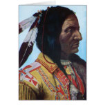 Principal tribu hueco de Lakota del oso del cuerno Felicitacion