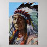 Principal tribu roja de Oglala Lakota Siux de la n Impresiones