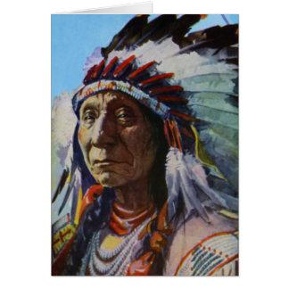 Principal tribu roja de Oglala Lakota Siux de la n Tarjeton