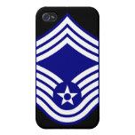 Principal U.S.A.F. del sargento mayor de E9 CMSgt iPhone 4 Cárcasas