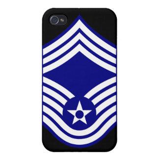 Principal U.S.A.F. del sargento mayor de E9 CMSgt iPhone 4/4S Fundas
