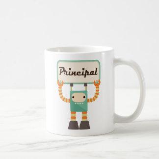 Principal Vintage School Gift retro robot Coffee Mug
