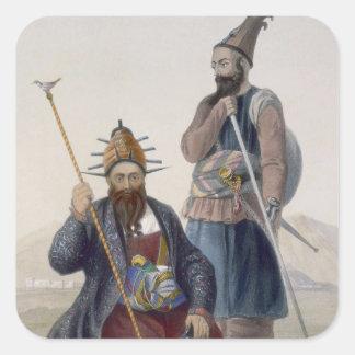 Principales verdugo y ayudante de su majestad calcomanía cuadrada