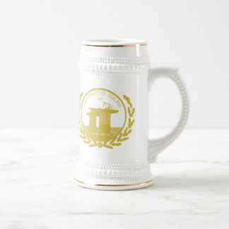 principality of sealand seal crest beer stein