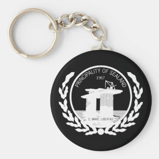 principality of sealand seal crest keychain