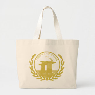 principality of sealand seal crest large tote bag
