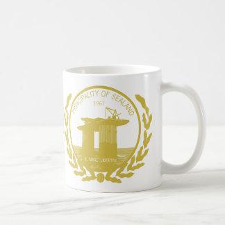 principality of sealand seal crest coffee mugs