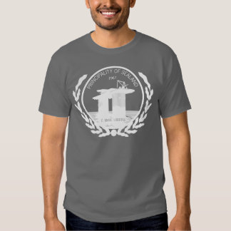principality of sealand seal crest t shirt