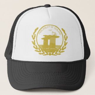 principality of sealand seal crest trucker hat