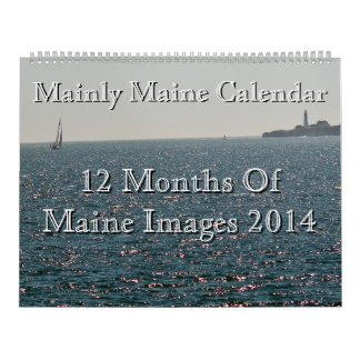 Principalmente calendario de Maine 2014