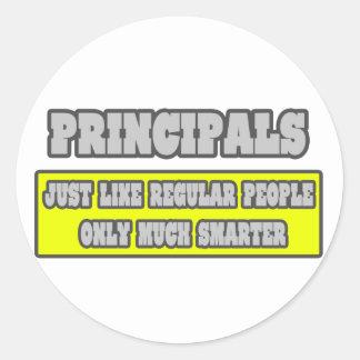 Principals...Much Smarter Classic Round Sticker