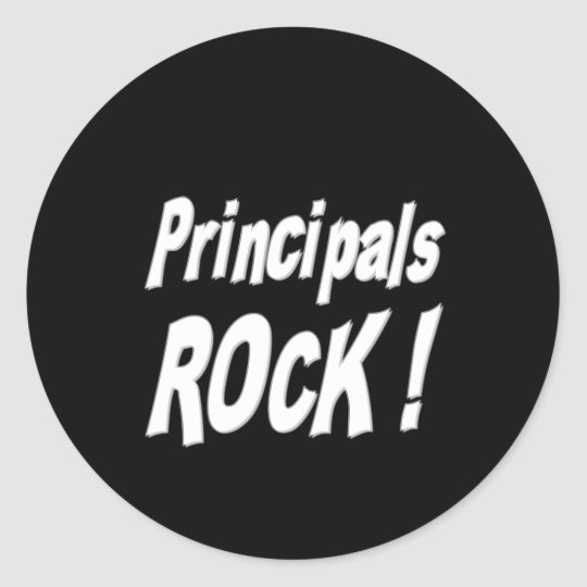 Principals Rock! Sticker