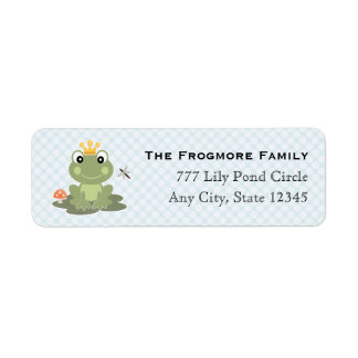 Príncipe Address Sticker Labels de la rana Etiquetas De Remite