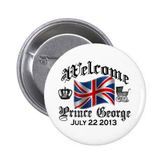Príncipe agradable George el 22 de julio Pin Redondo De 2 Pulgadas
