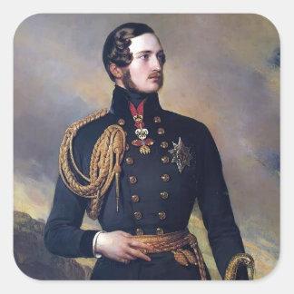 Príncipe Alberto de Francisco Xaver Winterhalter- Pegatina Cuadrada