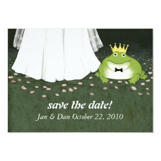 """Príncipe Announcement de la rana del boda del Invitación 5"""" X 7"""""""
