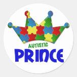 Príncipe autístico 1 AUTISMO Pegatinas Redondas