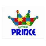 Príncipe autístico 1 AUTISMO Postales