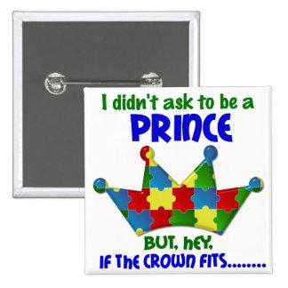 Príncipe autístico 2 AUTISMO Pins