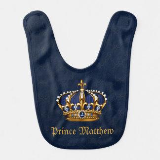 Príncipe azul babero para bebé