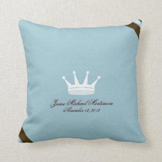 Príncipe azul Crown Custom Baby Pillow Almohada