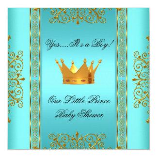 """Príncipe azul Crown del muchacho del oro del Invitación 5.25"""" X 5.25"""""""