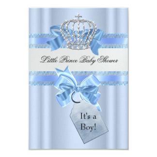 """Príncipe azul Crown SML del muchacho de la fiesta Invitación 3.5"""" X 5"""""""