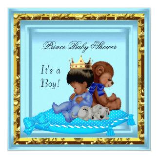 """Príncipe azul del muchacho del oro de la fiesta de invitación 5.25"""" x 5.25"""""""