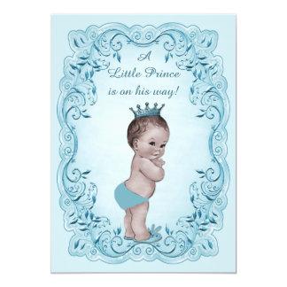 """Príncipe azul fiesta de bienvenida al bebé del invitación 5"""" x 7"""""""