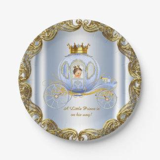 Príncipe azul Royal Carriage príncipe fiesta de Platos De Papel