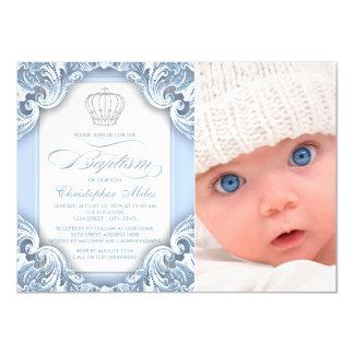 """Príncipe Baptism de los azules cielos Invitación 4.5"""" X 6.25"""""""