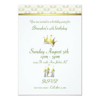 """Príncipe Birthday de Little Boy Invitación 3.5"""" X 5"""""""