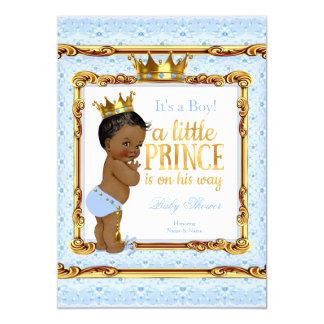 """Príncipe blanco fiesta de bienvenida al bebé del invitación 5"""" x 7"""""""