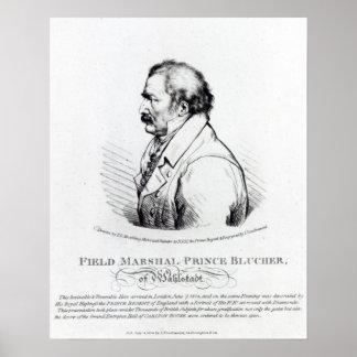 Príncipe Blucher del mariscal de campo de Wahlstad Póster