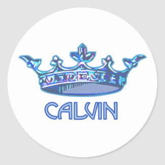 Príncipe Calvin Stickers Pegatina Redonda