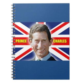 ¡Príncipe Charles de HRH - patriótico! Cuadernos