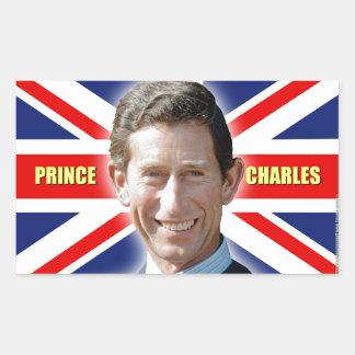 ¡Príncipe Charles de HRH - patriótico! Pegatina Rectangular