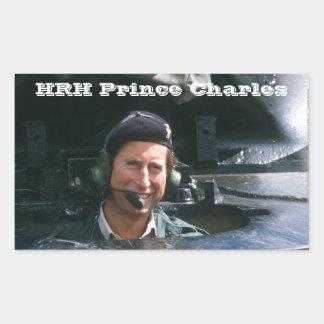Príncipe Charles de HRH Pegatina Rectangular