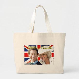 Príncipe Charles de HRH y duquesa de HRH de Bolsa Tela Grande