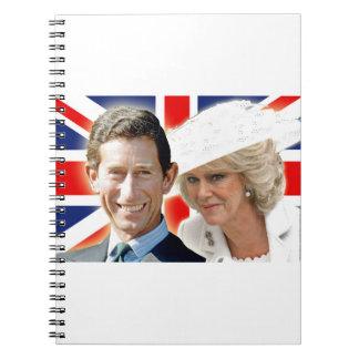 Príncipe Charles de HRH y duquesa de HRH de Cuaderno