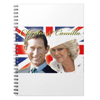 Príncipe Charles de HRH y duquesa de HRH de Libretas Espirales