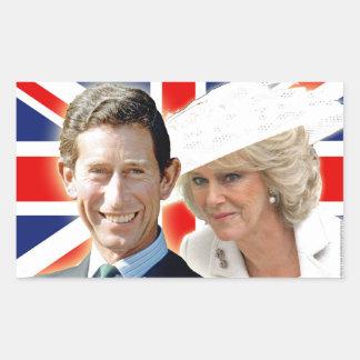 Príncipe Charles de HRH y duquesa de HRH de Pegatina Rectangular